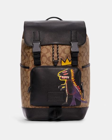 Coach X Jean Michel Basquiat Track Backpack In Signature Canvas
