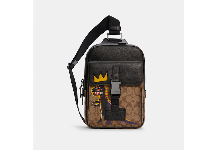 Coach X Jean Michel Basquiat Track Pack In Signature Canvas image number 0