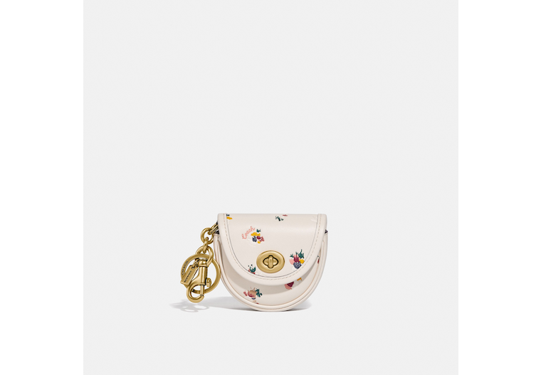 Mini Saddle Bag Charm With Paint Dab Floral Print image number 0