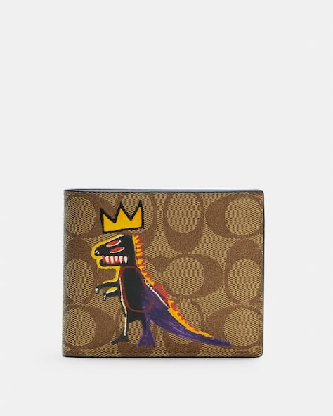 Coach X Jean Michel Basquiat 3 In 1 Wallet In Signature Canvas