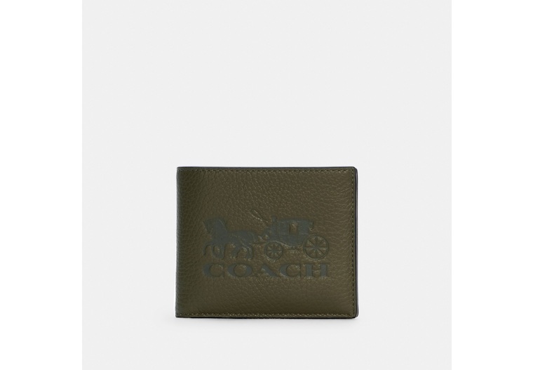 3 In 1 Wallet In Colorblock With Horse And Carriage image number 0