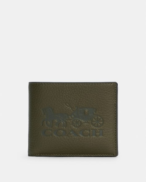 3 In 1 Wallet In Colorblock With Horse And Carriage