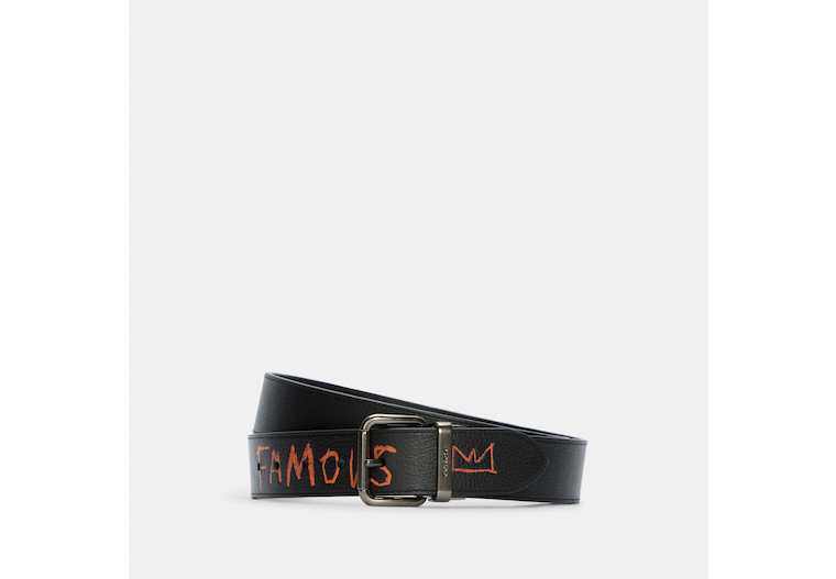 Coach X Jean Michel Basquiat Jeans Buckle Cut To Size Reversible Belt, 38 Mm image number 0