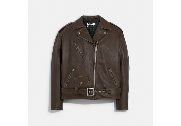 Coach X Schott N.Y.C. Leather Jacket image number 0