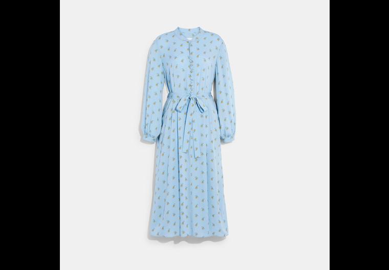 Printed Long Sleeve Dress image number 0
