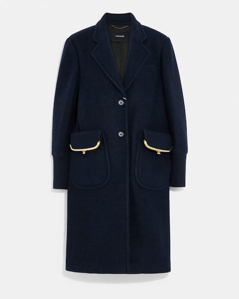 Jersey Coat In Recycled Wool And Recycled Polyester