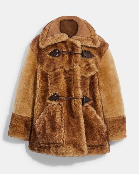 Manteau surdimensionné en rason Coach X Schott N.Y.C.