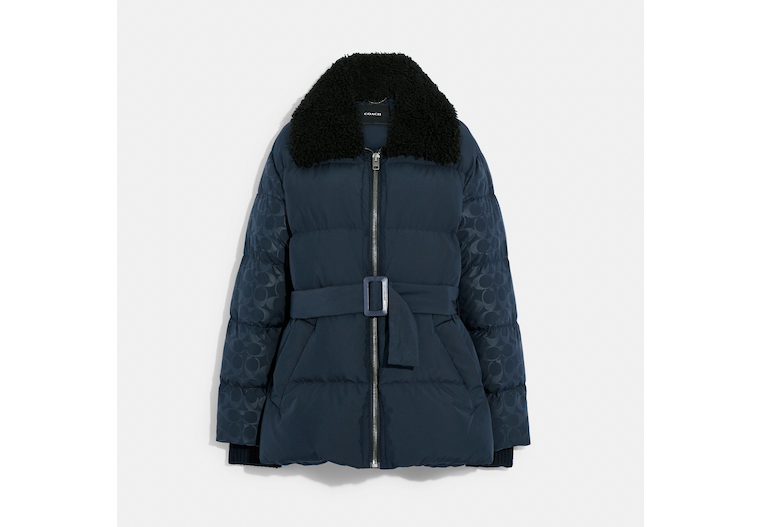 Belted Puffer In Recycled Nylon image number 0