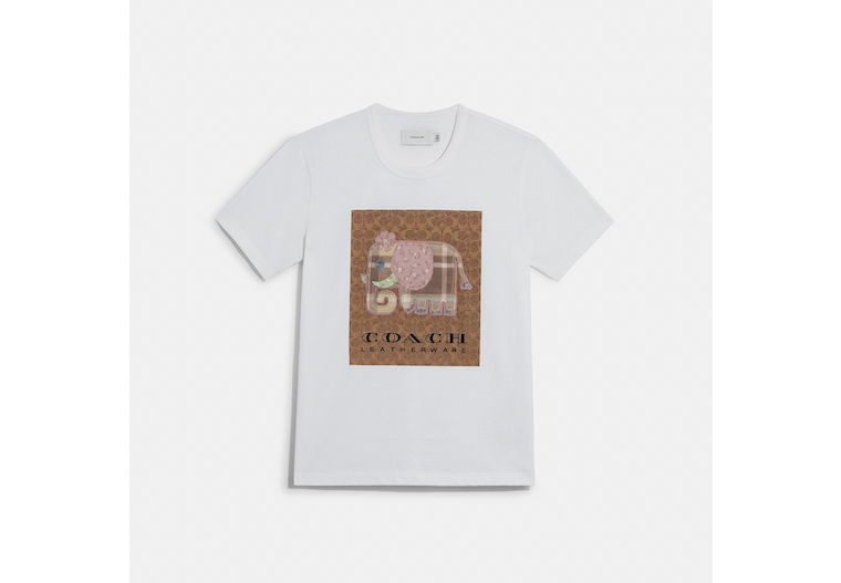Signature Elephant T Shirt In Organic Cotton image number 0