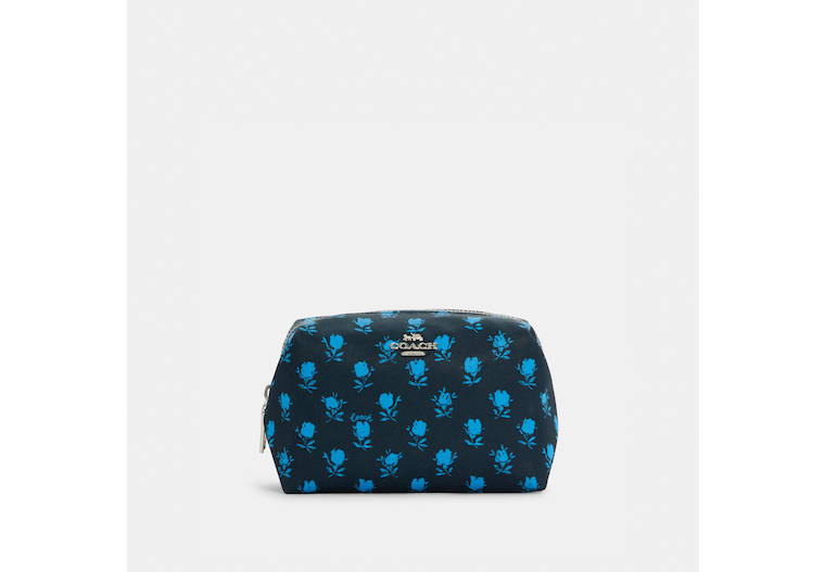 Small Boxy Cosmetic Case With Badland Floral Print image number 0