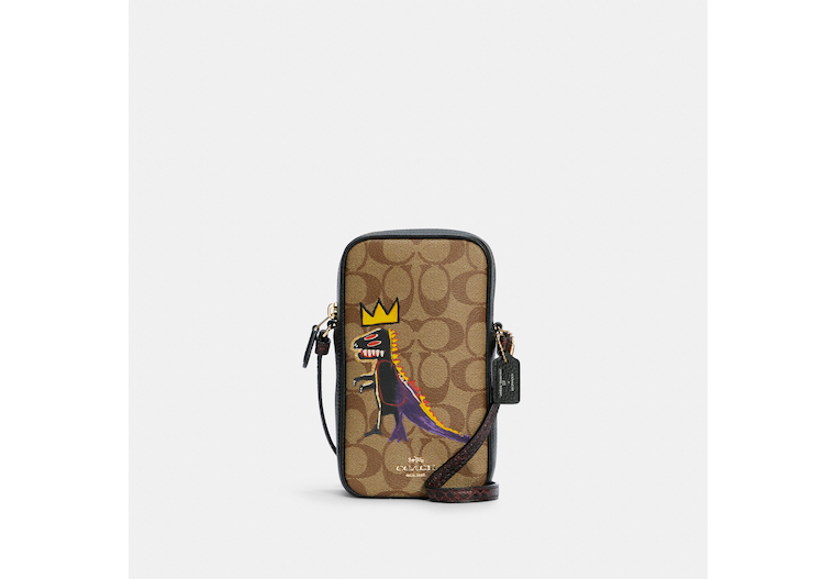 Coach X Jean Michel Basquiat North/South Zip Crossbody In Signature Canvas image number 0