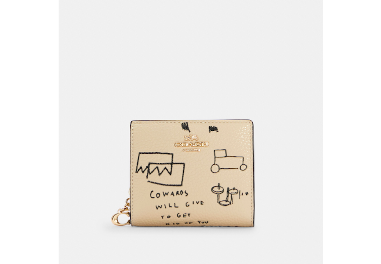 Coach X Jean Michel Basquiat Snap Wallet image number 0