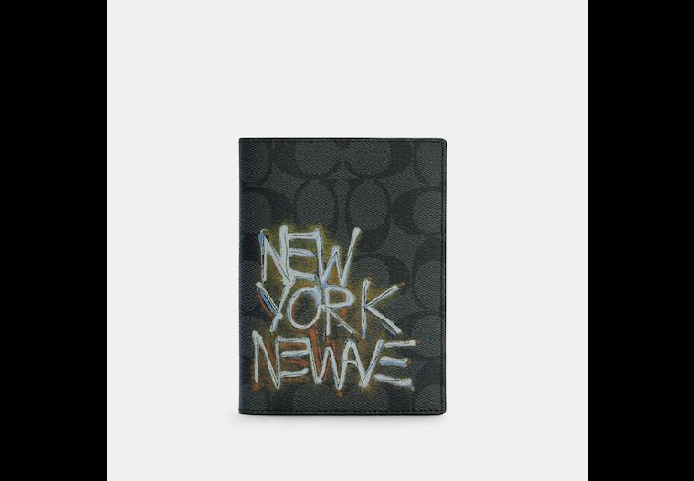 Coach X Jean Michel Basquiat Passport Case In Signature Canvas image number 0