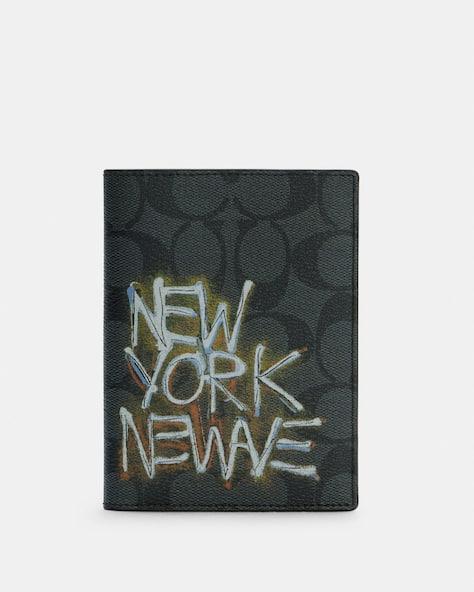 Coach X Jean Michel Basquiat Passport Case In Signature Canvas