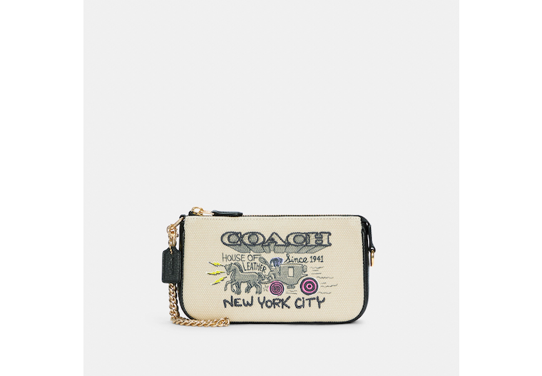 Large Wristlet With Art School Graphic image number 0