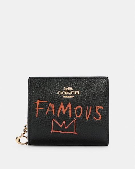 Coach X Jean Michel Basquiat Snap Wallet