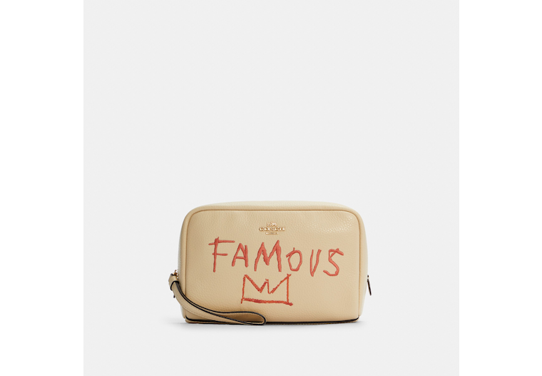 Coach X Jean Michel Basquiat Boxy Cosmetic Case image number 0