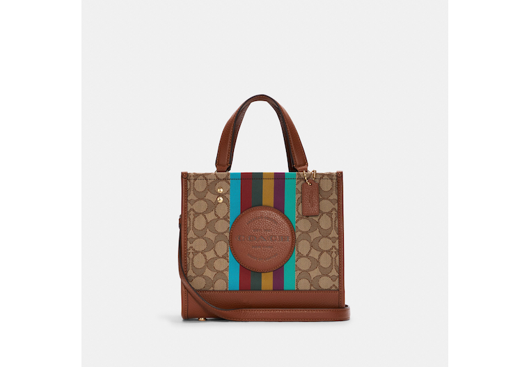 Dempsey Tote 22 In Signature Jacquard With Stripe And Coach Patch image number 0