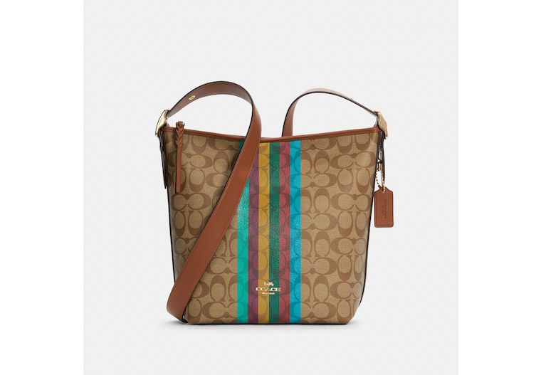 Val Duffle In Signature Canvas With Stripe image number 0