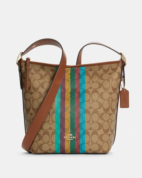 Val Duffle In Signature Canvas With Stripe