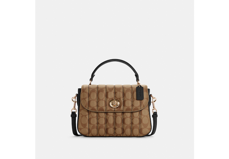 Marlie Top Handle Satchel In Signature Canvas With Quilting image number 0