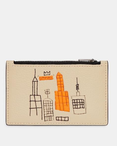 Coach X Jean Michel Basquiat Zip Card Case