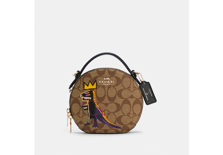 Coach X Jean Michel Basquiat Canteen Crossbody In Signature Canvas image number 0