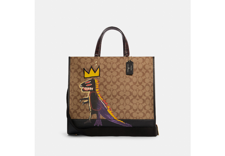 Coach X Jean Michel Basquiat Dempsey Tote 40 In Signature Canvas image number 0