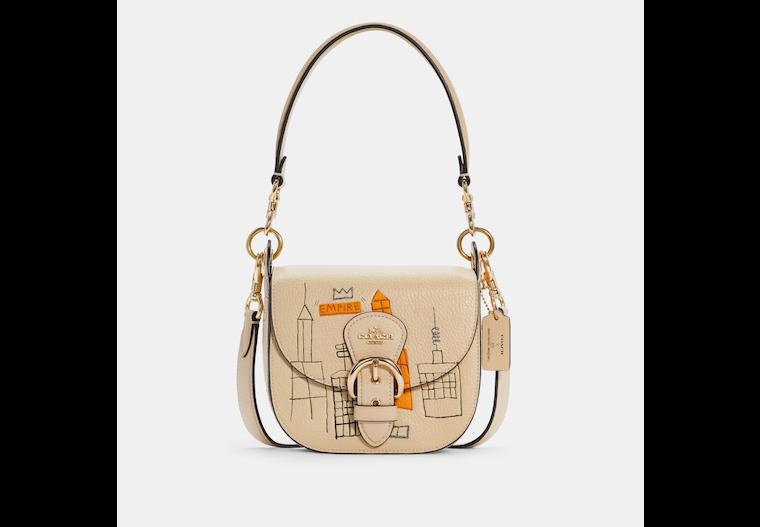 Coach X Jean Michel Basquiat Kleo Shoulder Bag 17 image number 0