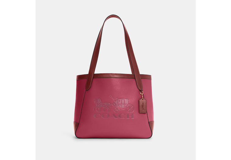 Tote In Colorblock With Horse And Carriage image number 0