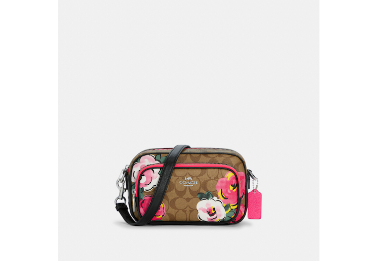 Court Crossbody In Signature Canvas With Vintage Rose Print image number 0