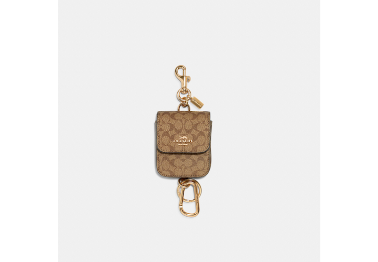 Multi Attachments Case Bag Charm In Signature Canvas image number 0