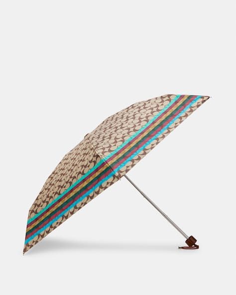 Uv Protection Mini Umbrella In Signature Stripe Print
