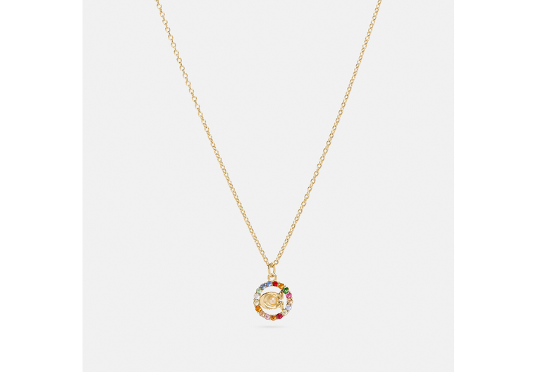 Signature Multicolor Crystal Necklace image number 0