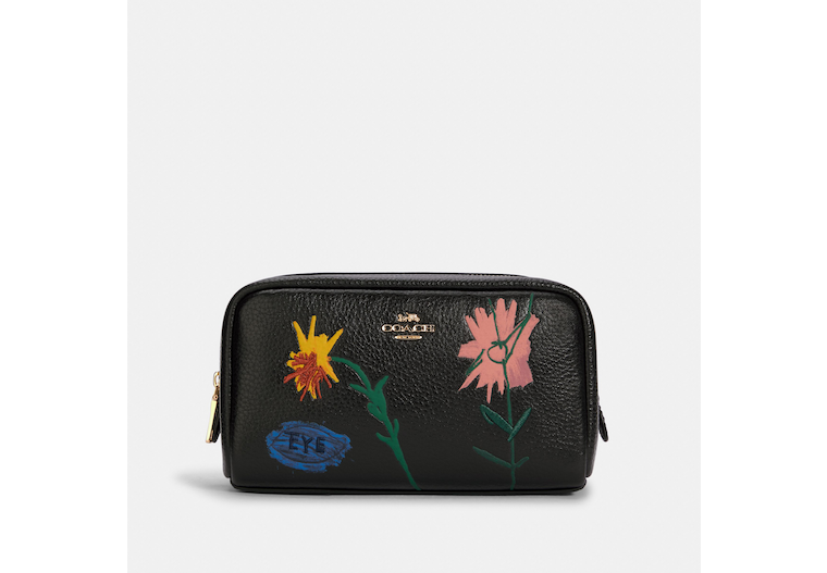 Coach X Jean Michel Basquiat Small Boxy Cosmetic Case image number 0
