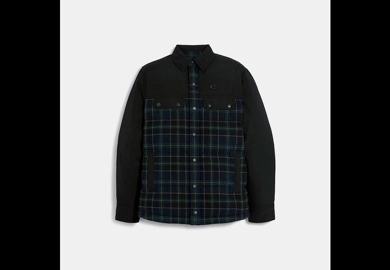 Mixed Materials Shirt Jacket image number 0