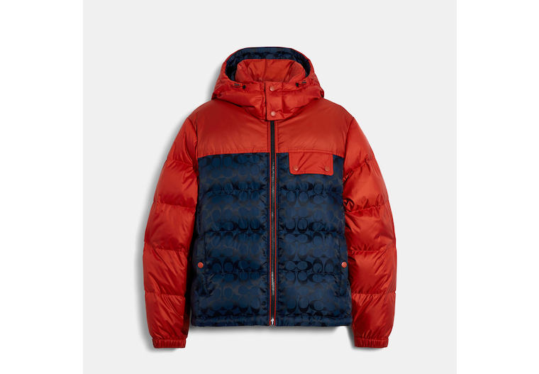 Signature Hooded Puffer Jacket image number 0