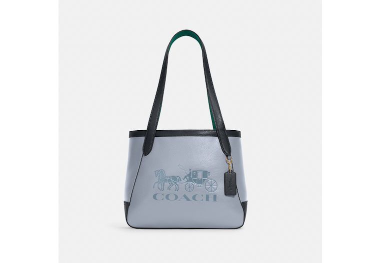 Tote 27 In Colorblock With Horse And Carriage image number 0
