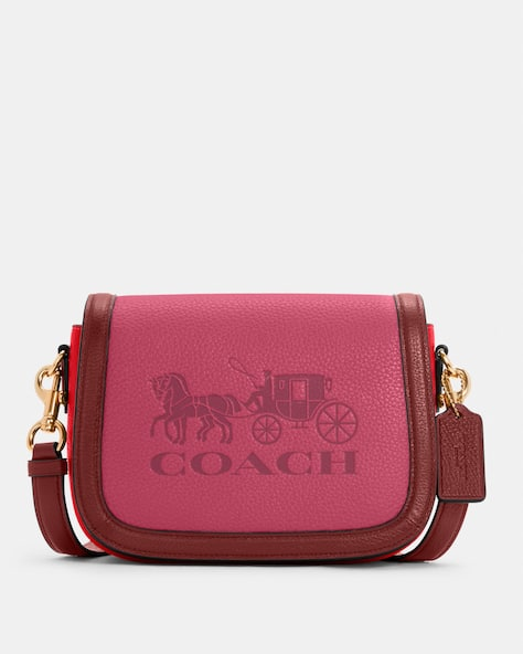 Saddle In Colorblock With Horse And Carriage