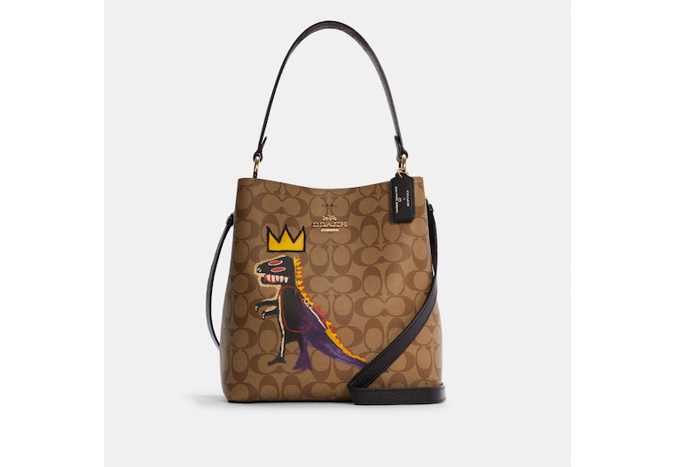 Coach X Jean Michel Basquiat Town Bucket Bag In Signature Canvas image number 0