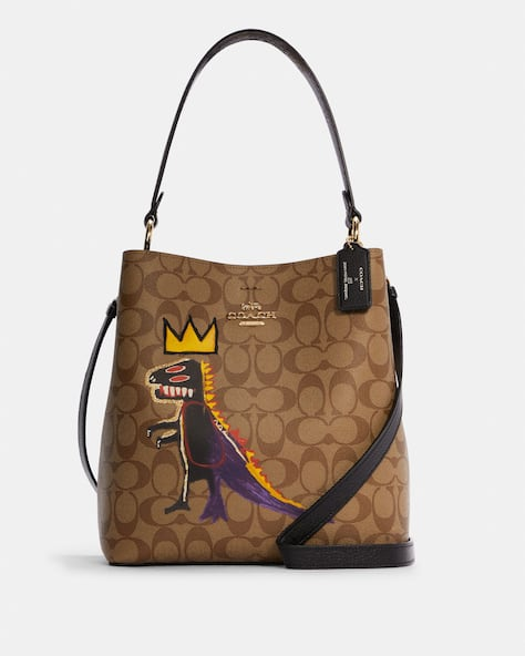 Coach X Jean Michel Basquiat Town Bucket Bag In Signature Canvas