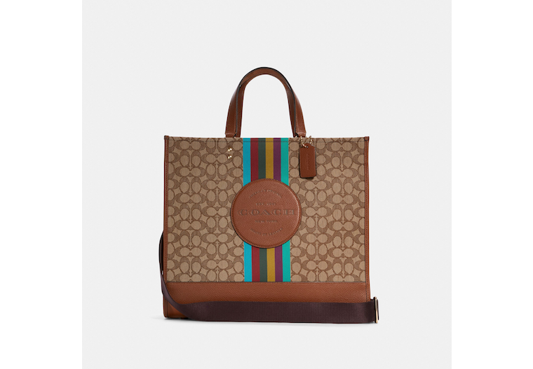 Dempsey Tote 40 In Signature Jacquard With Stripe And Coach Patch image number 0