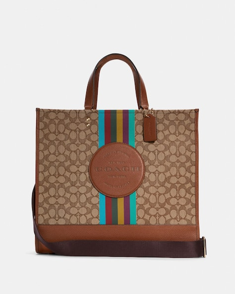 Dempsey Tote 40 In Signature Jacquard With Stripe And Coach Patch