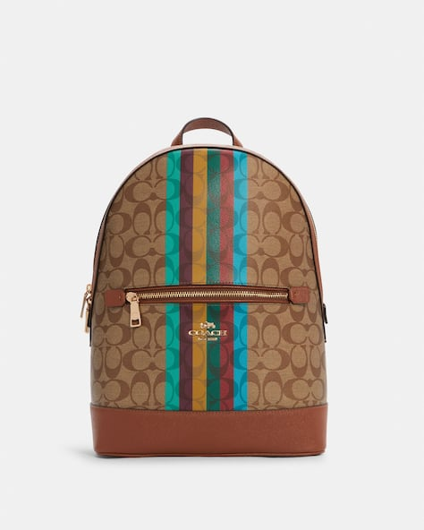 Kenley Backpack In Signature Canvas With Stripe