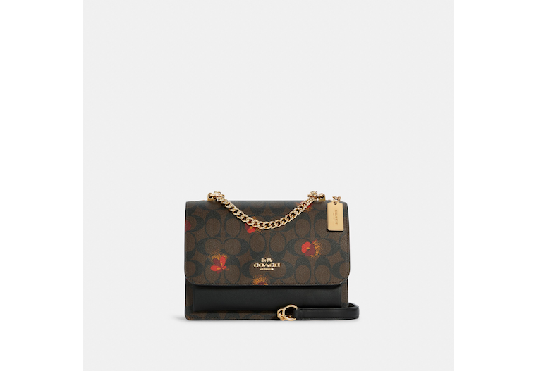 Klare Crossbody In Signature Canvas With Pop Floral Print image number 0