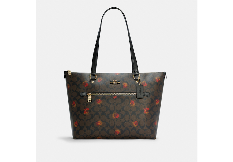 Gallery Tote In Signature Canvas With Pop Floral Print image number 0
