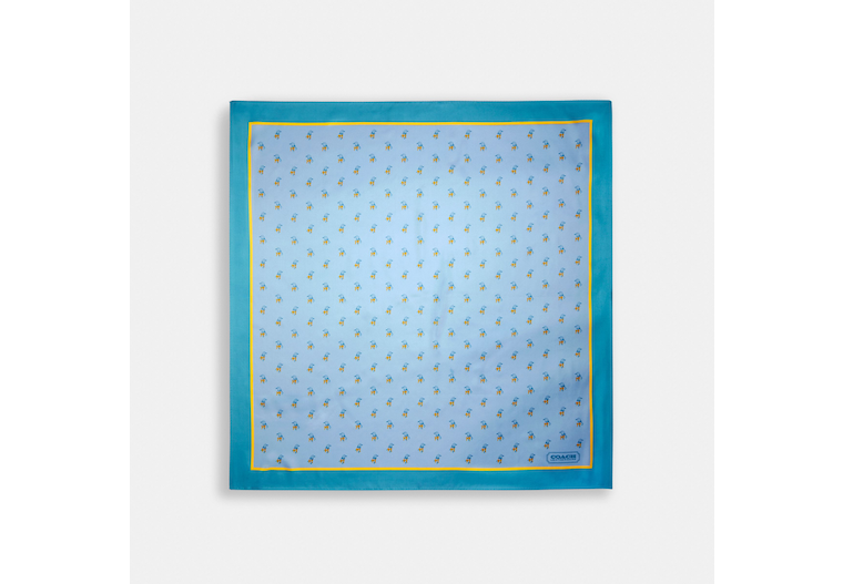 Bird Print Silk Square Scarf image number 0