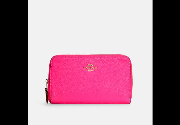 Medium Id Zip Wallet With Colorblock Interior image number 0