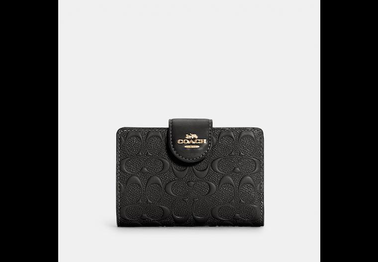 Medium Corner Zip Wallet In Signature Leather image number 0