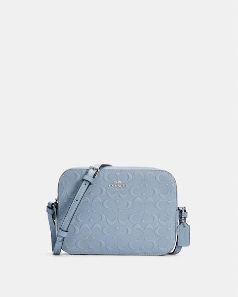 Mini Camera Bag In Signature Leather
